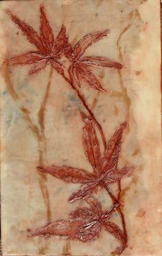 Japanese Maple Encaustic Painting..