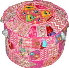 Indian Bohemian Pouf Ottoman floor pillow decorative by BeingGypsy, $44.99