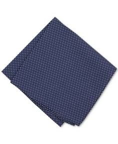 Bar Iii Men's Cotton Dot Pocket Square, Only at Macy's  - Blue
