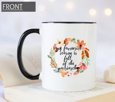 My favorite season is fall of the patriarchy coffee mug. Personalized gift mug for your feminist friends. Feminist mug. Office Gifts For Her, Gifts For Boss, Gifts In A Mug, Farewell Gift For Coworker, Farewell Gifts, Fundraising Events, Fundraising Ideas, Personalized Graduation Gifts, Secret Santa Gifts