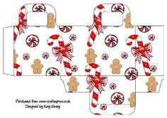 Gift Bag Christmas Gingerbread on Craftsuprint designed by Katy Kinsey - A cute Christmas gingerbread design decorates this easy to make gift bag - Now available for download!