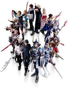 All Final Fantasy Heroes from Dissidia NT in one of three possible game covers.