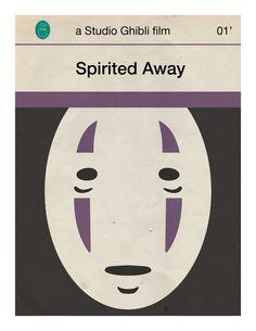 Spirited Away mini poster by 84/5 studio on Etsy