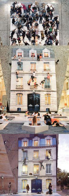 """""""Focus sur les « installations miroirs » de Leandro Erlich qui sont actuellement « utilisables et visibles » au 104 à Paris. Génial !"""""""