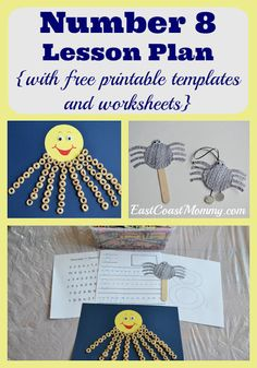 East Coast Mommy: Number Crafts (Number EIGHT}... Eight-legged Friends