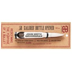 """""""Silver Bullet"""" Groomsmen Gifts -- Save with code Great Wedding Gifts, Presents For Friends, Silver Bullet, Wedding Advice, Groomsman Gifts, Groomsmen, Bottle Opener, Military Weddings, Man Cave"""