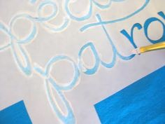 How to stencil on fabric with freezer paper--good step by step tutorial.
