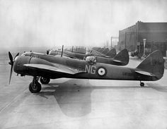 Bristol Blenheim Mk of No. 604 (County of Middlesex) Squadron at Northolt, April closest to camera. Bristol Blenheim, Air Force Aircraft, Royal Air Force, World War Two, Wwii, Fighter Jets, Miyawaki, British, Ministry