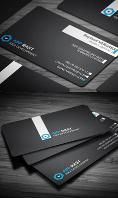 Black Colors Business Card #businesscards #corporatedesign #printready #branding #logodesign
