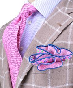 Andrea Campagna | Beige with Cream Windowpane Sportcoat | Apparel | Men's