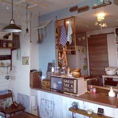 キッチンカウンター/パタパタ扉の棚DIY…などのインテリア実例 - 2015-08-05 17:14:54