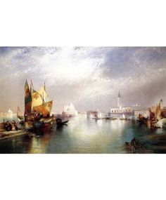 VENICE OIL PAINTINGS--THE SPLENDOR OF VENICE, 1899  Hand-painted, 100% handmade oil paintings will last a lifetime, not like Printing that will fade with time. You can own 100% Handmade oil paintings easily, why to use a printing.
