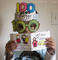 Day of School ideas…glasses, headband or crown, and leveled readers. All no prep for celebrating 100 days of school! This resource is full of math, reading, and writing activities to make the day extra special! 100 Days Of School, First Day Of School, Back To School, 100th Day Of School Crafts, Prep School, School Holidays, Kindergarten Activities, Writing Activities, Fun Activities