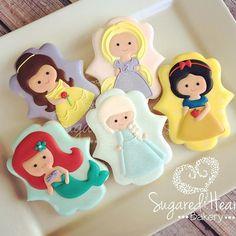 Sweet little princesses. #sugaredheartsbakery #sugaredhearts #etsyseller…