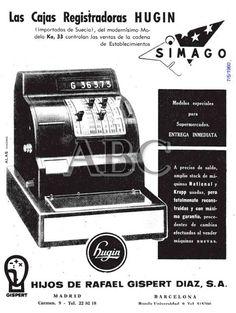 Las cajas registradoras Hugin. Año 1960.