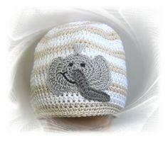 Häkelmütze, Babymütze Mütze Elefant