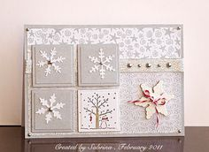 Snowy Christmas using Stampin Up A Tree for All Seasons retired stamp set