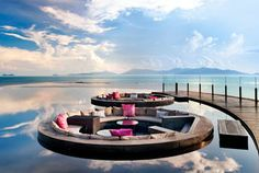 Lotus Pond, W Retreat Koh Samui. Indulge in a tropical escapade on Koh Samui's most pristine coast, a playground for local socialites and a sanctuary for global jetsetters.... #KohSamui #Thailand #JetsetterCurator