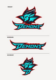 sports logo demons ロゴ