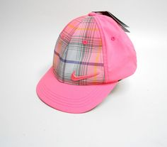 98a259a588d Nike Golf Hat Womens Pink Plaid Adjustable  Nike  BaseballCap