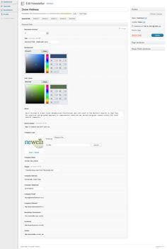 """Choose the colour of your headers, change the colour of your links, all to blend with your theme colours that you have chosen.    """"More Info"""" buttons are customisable which allow the user to send readers directly to their website in a new window."""