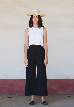 First Rite SS16 Wide Trouser and Banded Tank