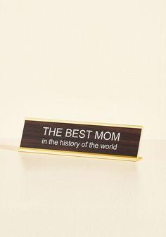 In Mother Words Desk Plaque