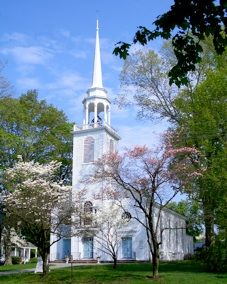 Greenfield Hill Congregational Church in Fairfield, CT.   Where the dogwood festival took place when I was a child.