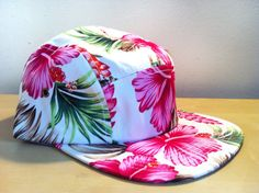 Beautiful Snow White and Floral  Leather Strapback by ShopSmileztm