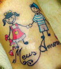 Resultado de imagem para tattoo nomes de filhos
