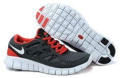 sale retailer 2ef54 2b4eb Homme Nike Free Run 2 Noir Blanc University Rouge Chaussures Boston Nike  Free Run 2,