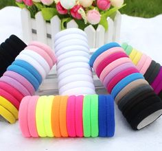 10pcs/lot  Candy Colored Hair Holders High Quality Rubber Bands Hair Elastics Accessories Girl Women Tie Gum (Mix Colors)