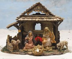 Fontanini 5 Lighted Christmas Nativity Village Stable 54304 ** Click image for more details. (This is an affiliate link) Nativity Creche, Nativity Stable, Christmas Nativity Scene, Merry Christmas To All, Cheap Christmas, A Christmas Story, Vintage Christmas, Nativity Scenes, Christmas Ideas