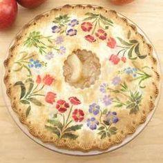 stenciled pie crust