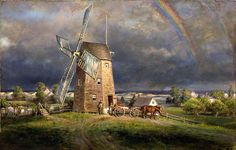 Old Hook Mill, Easthampton by Edward Lamson Henry