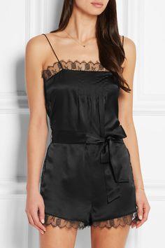 Eres   La Pagode Richelieu Leavers lace-trimmed silk-satin playsuit   NET-A-PORTER.COM