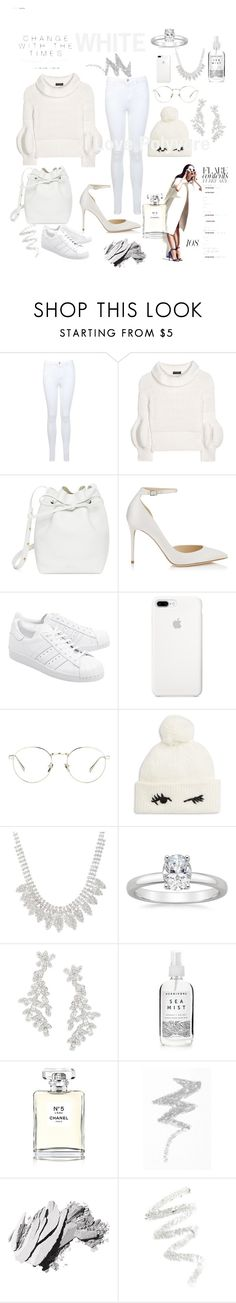 """WHITE"" by luthfiyyah-rachmawati on Polyvore featuring Miss Selfridge, Burberry, Mansur Gavriel, Jimmy Choo, adidas Originals, Linda Farrow, Kate Spade, Herbivore, Chanel and NYX"