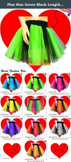 Plus Size Green Black Length 15 Two Layer Two Tone Stripe Tutu Skirt. ❤ Plus Size Neon Green Black Stripe Tutu Skirt ❤ Two (2) Layers Two (2) Tone ❤ ONE SIZE FITS ALL ❤ These tutus have elasticated waist enabling them to fit various sizes ❤ Look's Different & Smarter ❤ Don't compromise on Quality ❤ Original Seller ❤ HeartFashionVein ❤ Heart Fashion Vein ❤ HFV ❤.