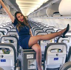 Another sexy flight attendant Nylons, Pantyhose Outfits, Delta Flight Attendant, Airline Attendant, Flight Girls, Female Pilot, Great Legs, Cabin Crew, Sexy High Heels