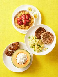 Each of these healthy breakfast recipes is about 300 calories.