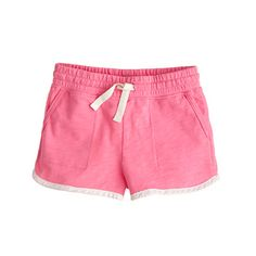 Crewcuts pink Millie pull on shorts: They're crafted from a supersoft sweatshirt material and feature our elastic waist with a generous adjustable drawstring to ensure a secure fit.
