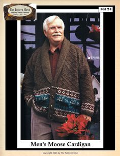 Vintage Knitting Pattern Men's Moose Motif by ThePatternChest