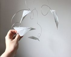 Baby Jives paper airplanes mobile