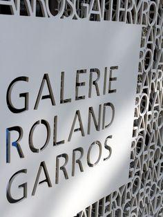 Signage design at Roland Garros French Open Paris _