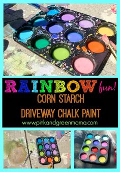 * Color My Driveway: DIY Cornstarch Sidewalk Paint