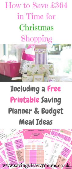 This explains how to save money quickly, with a optional printable to keep you on track.