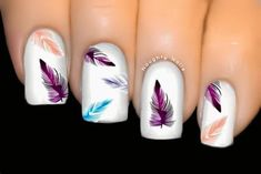 2.55AUD - Enchanted Feather Nail Water Transfer Decal Sticker Art Tattoo #ebay #Fashion