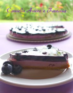 Cheesecake allo yogurt e mirtilli