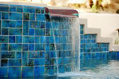 Pool Waterline Tile Ideas hand painted swimming pool liners Little Tile Inc Online Source To Japan Series Pool Glass Tile Swimming Pool Pinterest