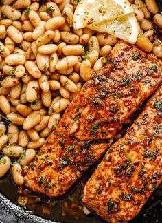 Cook — Eatwell101 Chicken Teriyaki Recipe, Chicken Skillet Recipes, White Bean Recipes, Seared Salmon Recipes, Easy To Cook Meals, Butter Salmon, 15 Minute Meals, Quick Dinner Recipes, Food Dishes